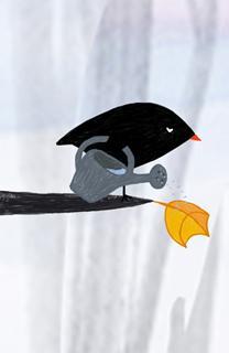 L'oiseau et la feuille