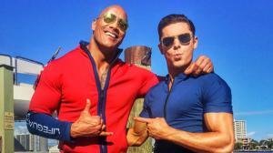Alerte � Malibu : Zac Efron et Dwayne Johnson tapent la pose !