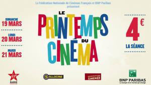 N'oubliez pas le Printemps du Cinéma : une séance pour 4 euros !
