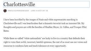 Les acteurs élèvent leur voix sur internet contre les néo-nazis de Charlottesville