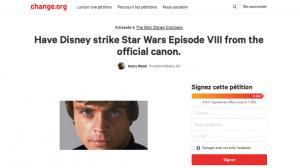 Star Wars : une pétition contre les Derniers Jedi