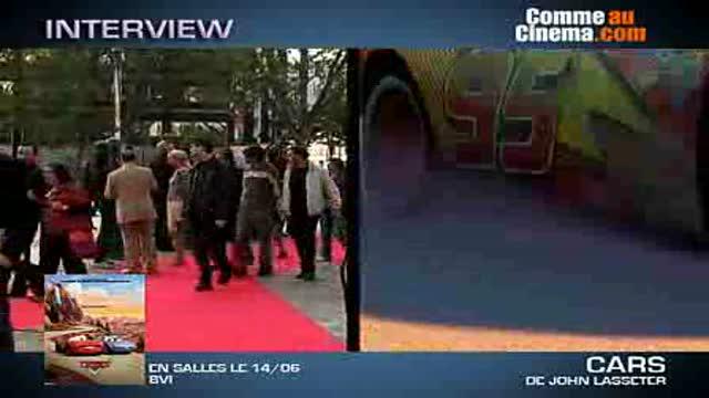 Le tapis rouge avec les voix françaises ! : Cars