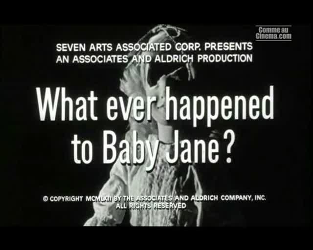 Bande Annonce : Qu'est-il arrivé à Baby Jane ?
